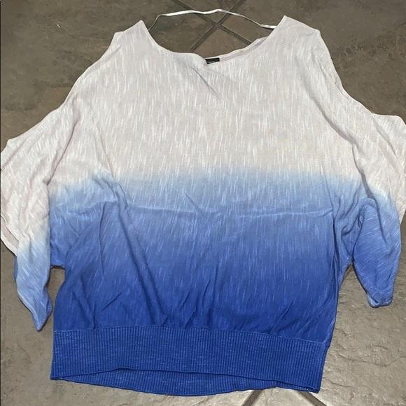 INC International Concepts Tops - International Concepts t-shirt w/ shoulder cut out